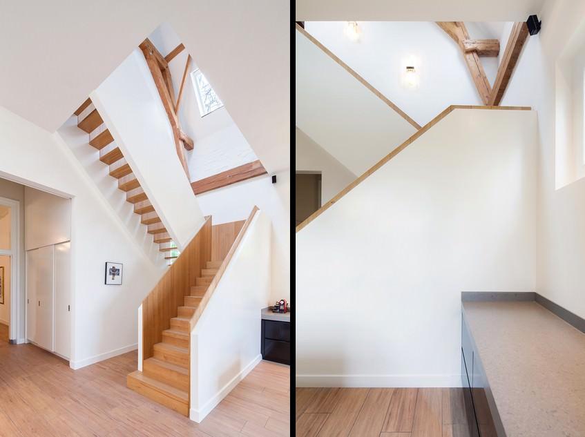 Освещение лестницы на второй этаж в частном доме