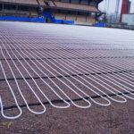 Обогрев открытых площадок системами отопительных трубопроводов