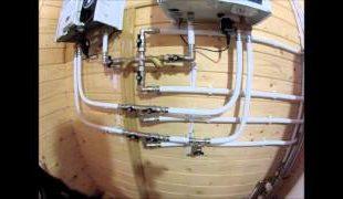 Монтаж отопления деревянного дома под ключ, цена устройства оборудования в частном доме